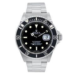 Rolex 16610 Submariner Black Dial Stainless Steel Watch