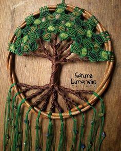 Árvore da vida, macramê, macrame, tree of life Macrame Design, Macrame Art, Macrame Projects, Macrame Knots, Micro Macrame, Crochet Tree, Crochet Mandala, Macrame Wall Hanging Patterns, Macrame Patterns