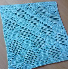 Hæklet Håndklæde med bobler 2, Design af Astrid, Gratis hækleopskrift, hækle opskrifter, Hæklet håndklæde, Hækle mønster, hækleblog