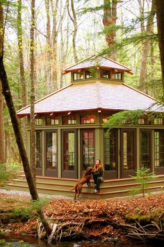 tea house . yankee barn homes how awesome for an art studio Funny thing is I don't have to simply dream about this...I have the property! But it will never happen, since its been 4 months and I still don't have kitchen cabinet doors!!