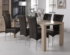 Table de salle manger contemporaine rectangulaire ou - Table salon transformable table salle manger ...