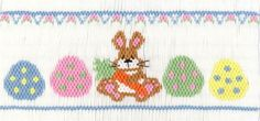 Bodacious Bunny--Cross Eyed Cricket Design Plates available at smocking.com