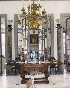 The Devoted Classicist: Veranda Mar-April 2014: Furlow Gatewood exquisite room with painted floor!
