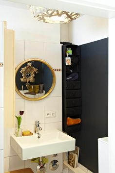 tiny but fun bathroom. Photo by BURMESTER PHOTOGRAPHY Interior Architecture & Styling UTE GÜNTHER