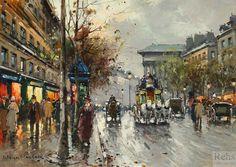 """Boulevard de la Madeleine"" by Antoine Blanchard (unknown)"
