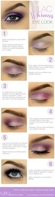Lilac Whimsy Makeup Eye Look