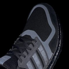 Men's Ultraboost S&L Core Black and Carbon Shoes | adidas US All Black Running Shoes, Black Shoes, Ultraboost, Black Adidas, Suede Leather, Adidas Sneakers, Kicks, Core, Stuff To Buy