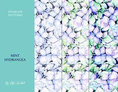 Leaf Clipart, Tropical Flowers, Textile Prints, Botanical Illustration, Home Textile, Adobe Photoshop, Watercolor Flowers, Hydrangea, Print Patterns