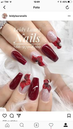 Nail art Christmas - the festive spirit on the nails. Over 70 creative ideas and tutorials - My Nails Xmas Nails, 3d Nails, Holiday Nails, Christmas Nails, Chic Nail Art, Chic Nails, Trendy Nails, Acrylic Nail Designs, Acrylic Nails