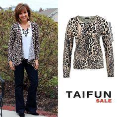 Синди из блога Grace & Beauty продемонстрировала прекрасный, взвешенный и очень женственный look с леопардовым жакетом - почти таким же, какой вы найдете в коллекции TAIFUN!  Осталось только подобрать аксессуары ;) SALE! 2699 грн - 50% = 1349 грн #taifunodessa #leopard #sale #odessa #shopping #outfit #gerryweber #fashionblog #classystyle #officelook #workoutfit #taifun #likeforlike