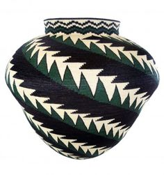 Green & Black Feather
