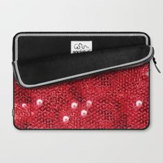 Faux Red Sequin Background Laptop Sleeve by #Gravityx9. Worldwide shipping available at #Society6 #Red #sparkling #laptopsleeve