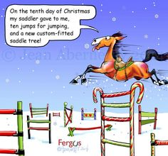 Tenth Day of Christmas Fergus Funny Horse Memes, Funny Horses, Funny Animals, Horse Humor, Equestrian Quotes, Equestrian Problems, Christmas Horses, Christmas Ideas, Horse Quotes
