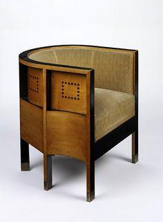 Armchair designed by Koloman Moser, 1903. Vienna, Austria.