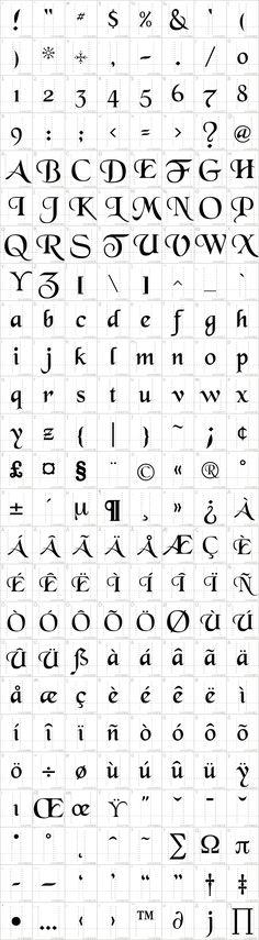 BlackChancery Font · 1001 Fonts