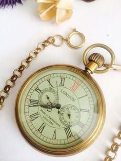 Premium Vintage Mechanical pocket watch vintage by Victorianstudio, $47.99