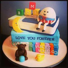 Children's book baby shower cake