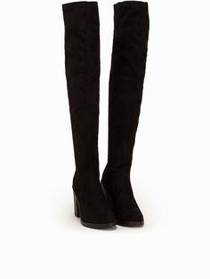 Nelly.com: Block Heel OTK Boot - New Look - kvinna - Svart. Nyheter varje dag. Över 800 varumärken. Oändlig variation.