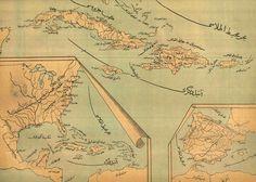"""Ottoman Archives Twitter'da: """"An Ottoman Map of Antilles, 1900s (Osmanlıca Antiller Haritası) https://t.co/OXpX2UtHZ6"""""""