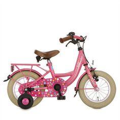 Lief! Meisjes Fiets Fuchsia Roze Bicycle Boys & Girls 12Inch Meisjes Remnaaf