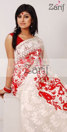 A very *ZUKI* sari! (jamdani) zariffashion.com