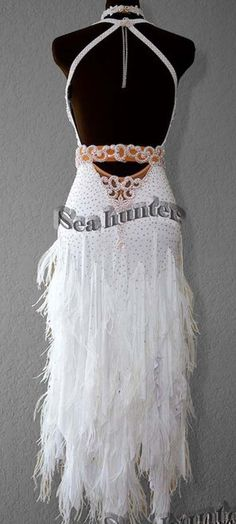 Ballroom White Cha Cha Latin Rhythm Salsa US6 Dance Dress L2304 Competition | eBay
