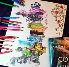 A Count of Thorns and Roses by Sarah J. Mass - the realms A Court Of Wings And Ruin, A Court Of Mist And Fury, Feyre And Rhysand, Sarah J Maas Books, Throne Of Glass, Book Fandoms, Book Characters, Book Nerd, Oeuvre D'art