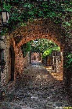 Street of Mura Barcelona. Barcelona is an extremely interesting city in Spain with many contrasts - old and new and a heaven for artists.