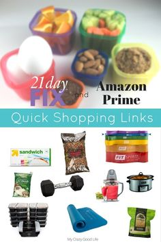 Ready to start the 21 Day Fix? This list of 21 Day Fix Amazon shopping links will same you time and money, and most will be at your door in 2 days! If you don't have Amazon Prime, there's a link here for a free 30 day trial.