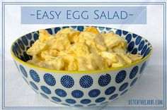 Easy Egg Salad with no fancy ingredients, no expensive protein powders and all made in 1 bowl. This easy recipe is great for school lunch, work lunch or a high protein snack #lchf #lowcarb #sugarfree #realfood #jerf #banting http://www.ditchthecarbs.com/2014/09/24/easy-egg-salad/?utm_content=buffera67a1&utm_medium=social&utm_source=twitter.com&utm_campaign=buffer