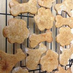 Peanut Butter and Banana Dog Biscuits Allrecipes.com