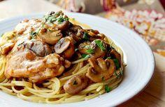 Chicken Marsala Pasta #recipe