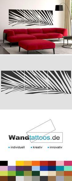 Wandbanner Palmwedel als Idee zur individuellen Wandgestaltung. Einfach Lieblingsfarbe und Größe auswählen. Weitere kreative Anregungen von Wandtattoos.de hier entdecken!