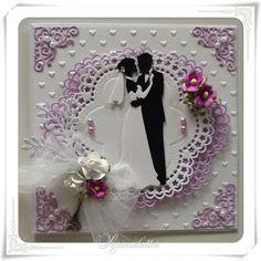 Lunasdatters Scrapbooking: Bryllups kort ..