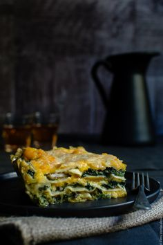 Cottage Cheese Vegetable Lasagne with Butternut Squash, Spinach and Mushrooms www.thefoodiecorner.net - Λαζάνια Λαχανικών με Κολοκύθα, Σπανάκι και Μανιτάρια (συνταγή με βίντεο) www.thefoodiecorner.gr