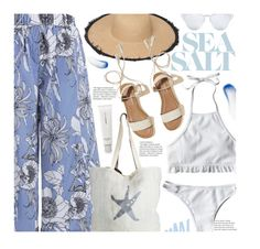 """""""Gone To The Beach"""" by beebeely-look ❤ liked on Polyvore featuring AmorePacific, Hollister Co., Lipstick Queen, ASPIGA, beach, summerstyle, summersandals and zaful"""