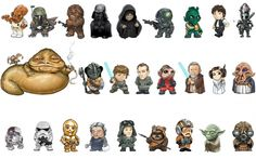 Star wars picture can you name these star wars characters from a z: Star Wars…