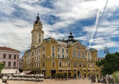 City hall of Pécs by summer day Hungary, Summer Days, Clouds, City, Building, Photos, Travel, Pictures, Viajes