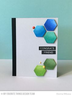 Label Maker Sentiments, Hexagons Die-namics - Donna Mikasa  #mftstamps