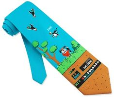 Casual fridays at the office just got cooler thanks to this collection of retro video game ties. From tetris to duck hunt, you'll be looking stylish with any...