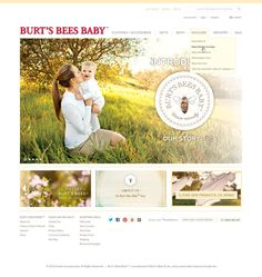 Burt's Bees Baby website design by Aeolidia