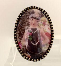 Bague coque porcelaine Michal Negrin la parisienne façon 1930