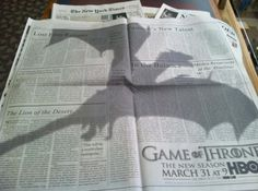 Pubblicità per Game of Thrones sul New York Times//win! Funny Commercials, Funny Ads, You Funny, Funny Stuff, Random Stuff, Funny Geek, Awesome Stuff, Funny Shit, New York Times