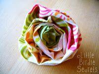 Fabric flowers... use for headbands, pillows, a bag, etc.