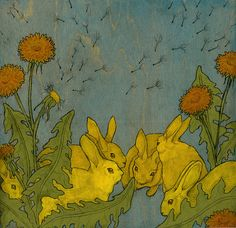 """Dandelion and Rabbits"" by Sarah Ryan (03/03/16)"