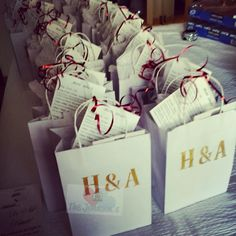 Wedding DIY Series: Welcome Gift Bags – The Johnsons' House of Love