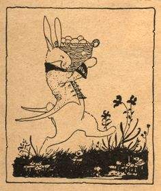 Sweet vintage bunny print