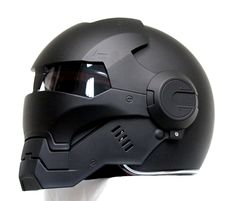 Masei Matt Black Atomic-Man if i were to wear a helmet610 Open Face Motorcycle Helmet Free Shipping for Harley Davidson