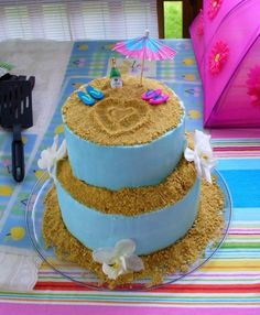 Beachy bachelorette cake By dsimkovic on CakeCentral.com