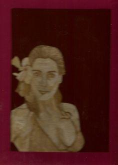girl in bikini handmade with rice leaves  by museumshop on Etsy, $69.00  Handmade with rice leaves.  COLLECTIBLE LEAF ART.
